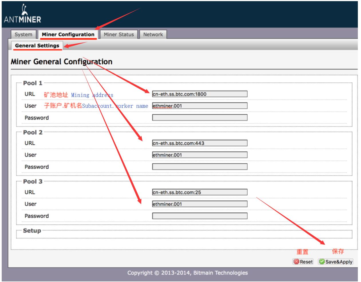 Configure Ethereum ASIC miner – BTC com